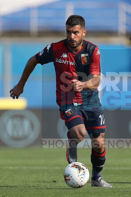 Genoa's Spanish striker Iago Falque during the Serie A match at Stadio Mario Rigamonti, Brecsia. Picture date: 27th June 2020. Picture credit should read: Jonathan Moscrop/Sportimage