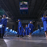 Alexis I. duPont High School graduates participate in a graduation processional during duPont High School commencement exercise Saturday, June 06, 2015, at The Bob Carpenter Sports Convocation Center in Newark, Delaware.