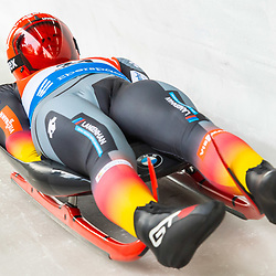 11 January 2020, Saxony, Altenberg: Luge: World Cup, gentlemen, first run. Max Langenhan from Germany in action. Photo: Matthias Rietschel/dpa-Zentralbild/dpa <br /> <br /> Photo by Icon Sport - Altenberg (Allemagne)