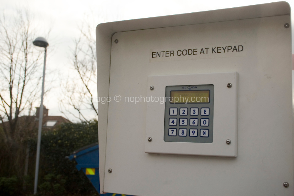 Keypad for automatic carwash at local garage in Ireland