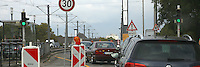 Mannheim. 06.10.14 Friedrich Ebert Br&uuml;cke. Stau an Baustelle<br /> <br /> Bild: Markus Pro&szlig;witz 06OCT14 / masterpress (Bild ist honorarpflichtig)