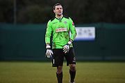 Dorking Wanderers Slalomer Huk during the Ryman League - Div One South match between Dorking Wanderers and Lewes FC at Westhumble Playing Fields, Dorking, United Kingdom on 28 January 2017. Photo by Jon Bromley.