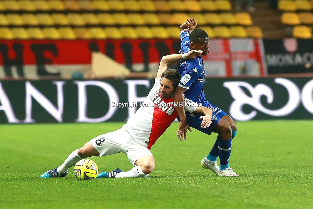 MOUTINHO JOAO / AYITE FLYOD - 13.03.2015 -   Monaco / Bastia -  29eme journee de Ligue 1 <br />Photo : Serge Haouzi / Icon Sport