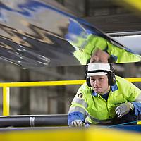 TATA Steel - Shotton , Deeside. Color Steel production line