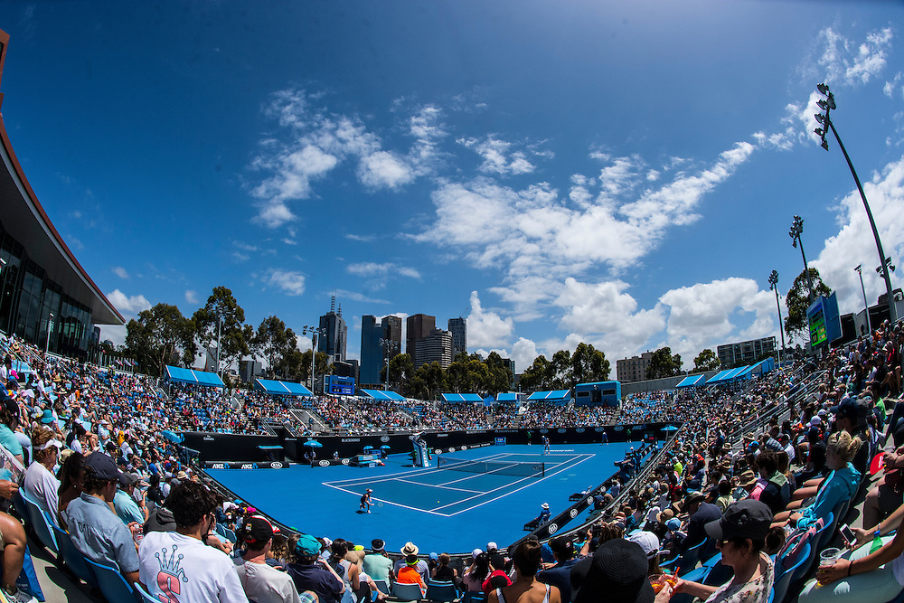 A general view of Show Court 3 on day three of the 2017 Australian Open at Melbourne Park on January 18, 2017 in Melbourne, Australia.<br /> (Ben Solomon/Tennis Australia)