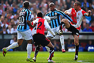 Onderwerp/Subject: Feyenoord - Willem II - Eredivisie<br /> Reklame:  <br /> Club/Team/Country: Feyenoord - Willem II<br /> Seizoen/Season: 2010/2011<br /> FOTO/PHOTO: Feyenoord's Ron VLAAR (R) in duel with Willem II's Rangelo JANGA (C). (Photo by PICS UNITED)<br /> <br /> Trefwoorden/Keywords:  <br /> #04 $94 &plusmn;1279295324043<br /> Photo- &amp; Copyrights &copy; PICS UNITED <br /> P.O. Box 7164 - 5605 BE  EINDHOVEN (THE NETHERLANDS) <br /> Phone +31 (0)40 296 28 00 <br /> Fax +31 (0) 40 248 47 43 <br /> http://www.pics-united.com <br /> e-mail : sales@pics-united.com (If you would like to raise any issues regarding any aspects of products / service of PICS UNITED) or <br /> e-mail : sales@pics-united.com   <br /> <br /> ATTENTIE: <br /> Publicatie ook bij aanbieding door derden is slechts toegestaan na verkregen toestemming van Pics United. <br /> VOLLEDIGE NAAMSVERMELDING IS VERPLICHT! (&copy; PICS UNITED/Naam Fotograaf, zie veld 4 van de bestandsinfo 'credits') <br /> ATTENTION:  <br /> &copy; Pics United. Reproduction/publication of this photo by any parties is only permitted after authorisation is sought and obtained from  PICS UNITED- THE NETHERLANDS