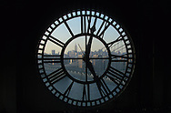 New York. elevated view. Manhattan skyline seen trough the clocktower  .  /   pont de Manhattan , panorama de Manhattan vue au travers de la clock tower   New York - Etats Unis  .