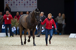 Dorothee SCHNEIDER ( GER) & Sammy Davis Jr. - Horse Inspection - FEI World Cup™ Dressage Final - Longines FEI World Cup Finals Paris - Accor Hotels Arena, Bercy, Paris, France - 12 April 2018