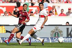 25.03.2012, Mercedes-Benz Arena, Stuttgart, GER, 1. FBL, VfB Stuttgart vs 1. FC Nuernberg, 27. Spieltag, im Bild Timothy CHANDLER (1.FC Nuernberg),links, flankt vor MAZA (VfB Stuttgart) // during the German Bundesliga Match, 27th Round between VfB Stuttgart vs 1. FC Nuernberg at the Mercedes-Benz Arena, Stuttgart, Germany on 2012/03/25. EXPA Pictures © 2012, PhotoCredit: EXPA/ Eibner/ Eckhard Eibner     ATTENTION - OUT OF GER *****