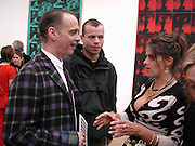 John Waters, Wolfgang Tillman and Tracey Emin. Andy Warhol exhibition opening. Tate Modern, 4 February 2002. © Copyright Photograph by Dafydd Jones 66 Stockwell Park Rd. London SW9 0DA Tel 020 7733 0108 www.dafjones.com