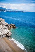 May 23-27, 2018: Monaco Grand Prix. Beach in Monaco