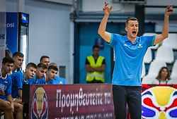 Markovinovic  Peter, head coach of Slovenia during basketball match between National teams of Slovenia and France in the Group Phase C of FIBA U18 European Championship 2019, on July 27, 2019 in Nea Ionia Hall, Volos, Greece. Photo by Vid Ponikvar / Sportida