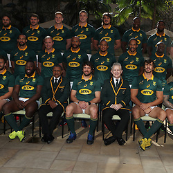 DURBAN, SOUTH AFRICA - JUNE 16: Team photo during the South African national mens rugby team Captains press conference and team photograph at Garden Court Umhlanga on June 16, 2017 in Durban, South Africa. (Photo by Steve Haag/Gallo Images)