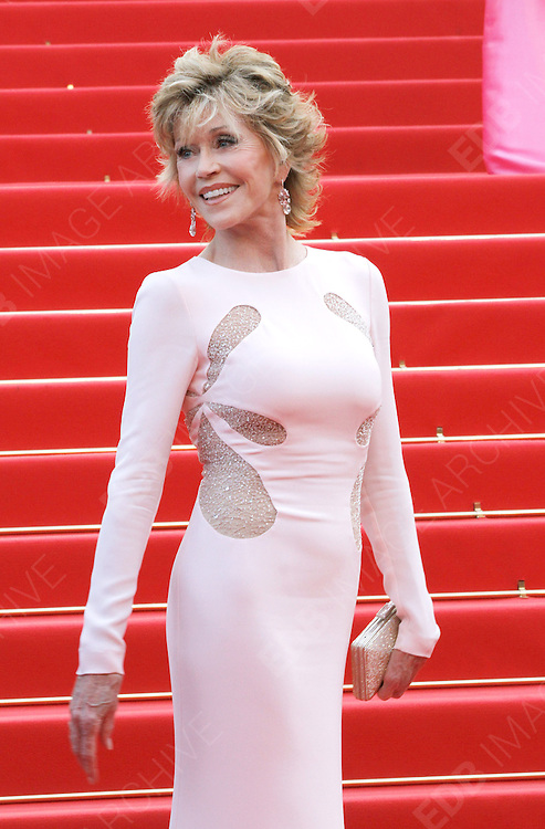 12.MAY.2011. CANNES<br /> <br /> JANE FONDA ARRIVING ON THE RED CARPET FOR THE SLEEPING BEAUTY PREMIERE AT THE 64TH CANNES INTERNATIONAL FILM FESTIVAL 2011 IN CANNES, FRANCE.<br /> <br /> BYLINE: EDBIMAGEARCHIVE.COM<br /> <br /> *THIS IMAGE IS STRICTLY FOR UK NEWSPAPERS AND MAGAZINES ONLY*<br /> *FOR WORLD WIDE SALES AND WEB USE PLEASE CONTACT EDBIMAGEARCHIVE - 0208 954 5968*