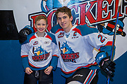 KELOWNA, CANADA - JANUARY 10:  Pepsi Player of the game with Cal Foote #25 of the Kelowna Rockets at the Kelowna Rockets game on January 10, 2018 at Prospera Place in Kelowna, British Columbia, Canada.  (Photo By Cindy Rogers/Nyasa Photography,  *** Local Caption ***