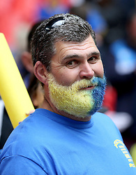 An AFC Wimbledon fan with a dyed beard - Mandatory by-line: Robbie Stephenson/JMP - 30/05/2016 - FOOTBALL - Wembley Stadium - London, England - AFC Wimbledon v Plymouth Argyle - Sky Bet League Two Play-off Final