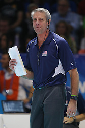 TEAM USA HEAD COACH KARCH KIRALY<br /> USA - CHINA <br /> FINAL VOLLEYBALL WOMEN'S WORLD CHAMPIONSHIP 2014<br /> MILAN (ITA) 12-10-2014<br /> PHOTO BY FILIPPO RUBIN
