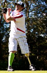 03.10.2010, Golfclub, Zell am See Kaprun, AUT, European Paragolf Championships 2010, im Bild Manfred Auer, AUT, beim Abschlag, EXPA Pictures © 2010, PhotoCredit: EXPA/ J. Feichter