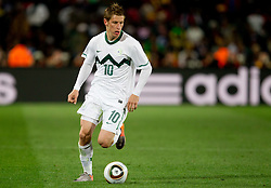 Valter Birsa of Slovenia during the 2010 FIFA World Cup South Africa Group C match between Slovenia and USA at Ellis Park Stadium on June 18, 2010 in Johannesberg, South Africa. (Photo by Vid Ponikvar / Sportida)