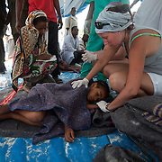 A French nurse on holiday in Zanzibar helps with the rescue effort.