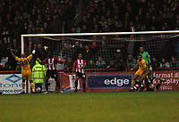 Photo: Tony Oudot/Richard Lane Photography. Brentford v Rochdale. Coca-Cola Football League Two. 01/11/2008. <br /> Rory McArdle celebrates with  after scoring Rochdales first goal