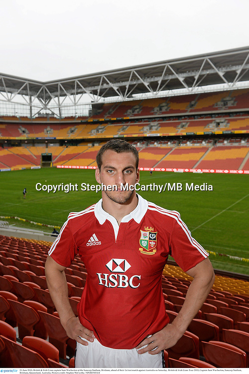 21 June 2013; British & Irish Lions captain Sam Warburton at the Suncorp Stadium, Brisbane, ahead of their 1st test match against Australia on Saturday. British & Irish Lions Tour 2013, Captain Sam Warburton, Suncorp Stadium, Brisbane, Queensland, Australia. Picture credit: Stephen McCarthy / SPORTSFILE