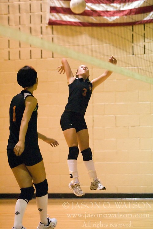 The Charlottesville High School Black Knights varsity volleyball team faced Monticello High School Mustangs at Charlottesville HS  in Charlottesville, VA on October 2, 2007.