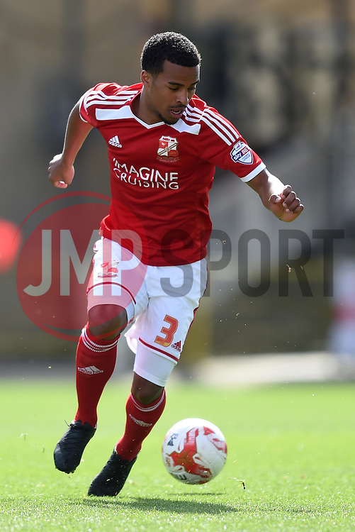 Swindon Town's Nathan Byrne - Photo mandatory by-line: Paul Knight/JMP - Mobile: 07966 386802 - 11/04/2015 - SPORT - Football - Swindon - The County Ground - Swindon Town v Peterborough United - Sky Bet League One