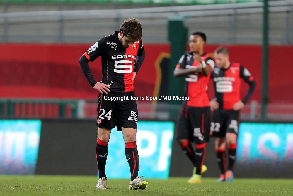 Sanjin PRCIC  - 25.01.2015 - Rennes / Caen  - 22eme journee de Ligue1<br />Photo : Vincent Michel / Icon Sport