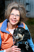 12/8/08 12:01:51 PM -- Colorado Springs, CO, U.S.A. -- Sharon Peters of Colorado Springs, Co. Peters is the Pet Talk columnist for USA TODAY. She was photographed with her dogs 'Rufus', a 12+ year old male mixed breed, 'Jasper', a five year old male mixed breed and her cat 'Gus', a five year old male. -- ...Photo by Marc Piscotty, Freelance.