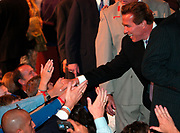 Los Angeles, CA, USA, 07.10.2003: Arnold Schwarzenegger celebrates his landslide victory over Lt. Governor Cruz Bustamante in the Recall Election in California at the Century Plaza Hotel.<br /> <br /> Arnold Schwarzenegger greets supporters and volunteers.<br /> <br /> Photo: Orjan F. Ellingvag/ Dagbladet/ Getty