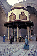 Interior courtyard of the Sultan Hassan Mosque, Cairo