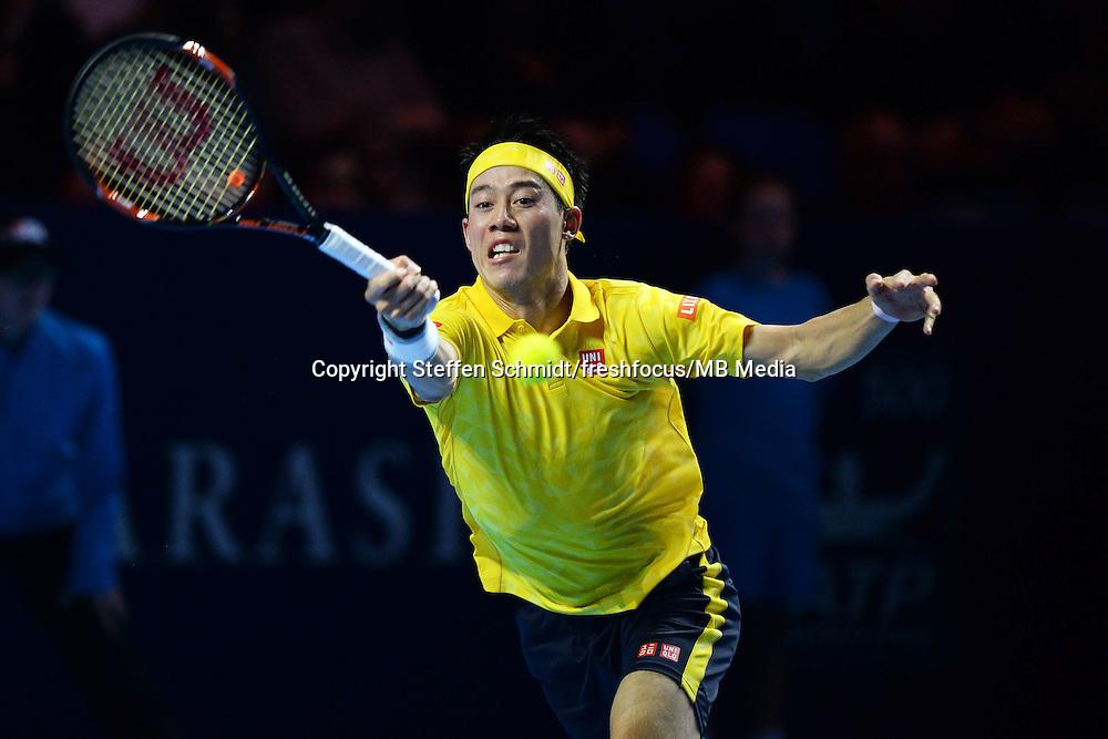 24.10.2016;  Basel; Tennis - Swiss Indoors 2016; Kei Nishikori (JPN)<br /> (Steffen Schmidt/freshfocus)