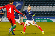 Scotland Captain Connor Smith (C)(Heart of Midlothian)  during the U17 European Championships match between Portugal and Scotland at Simple Digital Arena, Paisley, Scotland on 20 March 2019.