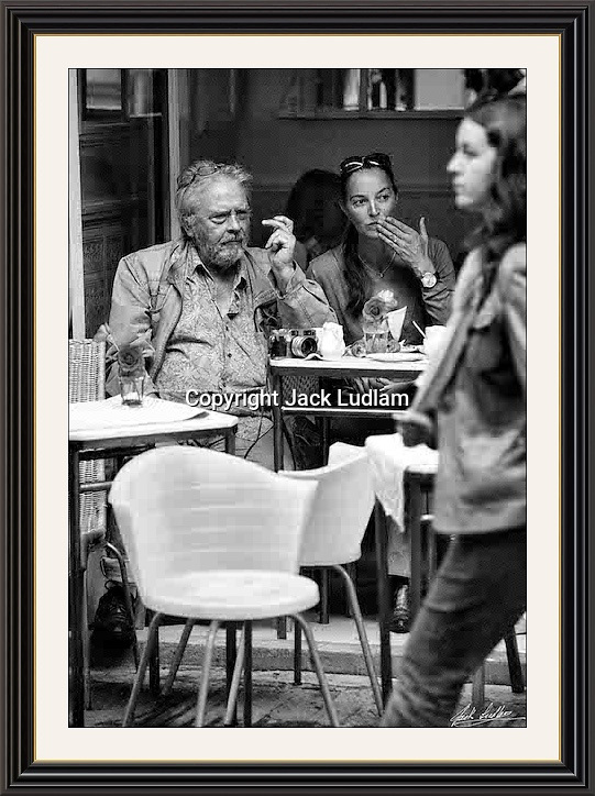 David Bailey people watching,With his camera soho London <br /> A2  Museum-quality Archival signed Framed Print (Limited Edition of 25)