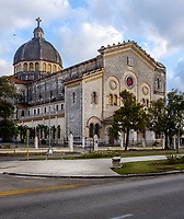 HAVANA, CUBA - CIRCA MARCH 2017: Old Historic Church Jesús de Miramar.