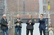 100° Giro delle Fiandre la De Ronde Van Vlaanderen,Brugge - Oudenaarde 255,9 km 255km, a sinistra Francesco Moser e Felice Gimondi Andrea Taffi, 3 Aprile 2016 © foto Daniele Mosna