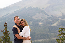 portrait of a beautiful couple outdoors in Montana