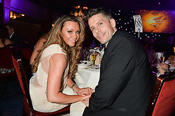 MICHELLE HEATON and HUGH HANLEY at the Caudwell Children's annual Butterfly Ball held at The Grosvenor House Hotel, Park Lane, London on 15th May 2014.