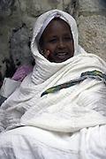 Israel, Jerusalem church of the holy sepulchre Ethiopian Orthodox pilgrims Palm Sunday Easter 2005