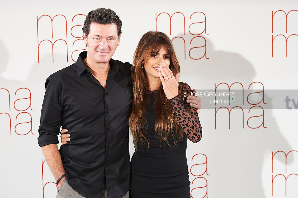 Penelope Cruz and Julio Medem attends 'Ma ma' photocall at the Villamagna Hotel on September 8, 2015 in Madrid, Spain.