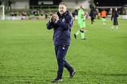 Forest Green Rovers assistant manager, Scott Lindsey applauds the fans at the end of the match during the EFL Sky Bet League 2 match between Forest Green Rovers and Northampton Town at the New Lawn, Forest Green, United Kingdom on 1 January 2019.