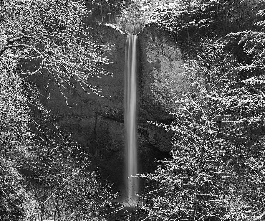 Snow Day-B&W Columbia River Gorge, Oregon - 2/24/2011.