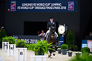 Inessa Merkulova - Mister X<br /> FEI Longines FEI World Cup Paris 2018<br /> © DigiShots