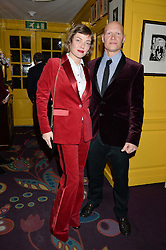 CAMILLA RUTHERFORD and DOMINIC BURNS at the mothers2mothers 15 Years of Wonder Women at held at Annabel's, Berekely Square, London on 9th November 2016.