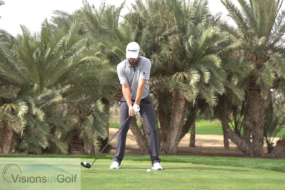 Justin Rose<br /> High speed swing sequence with driver face on<br /> May 2018<br /> <br /> Picture by Mark Newcombe/visionsingolf.com