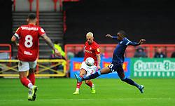 Adama Diakhaby of Huddersfield Town tackles Jack Hunt of Bristol City - Mandatory by-line: Nizaam Jones/JMP - 30/11/2019 - FOOTBALL - Ashton Gate - Bristol, England - Bristol City v Huddersfield Town - Sky Bet Championship