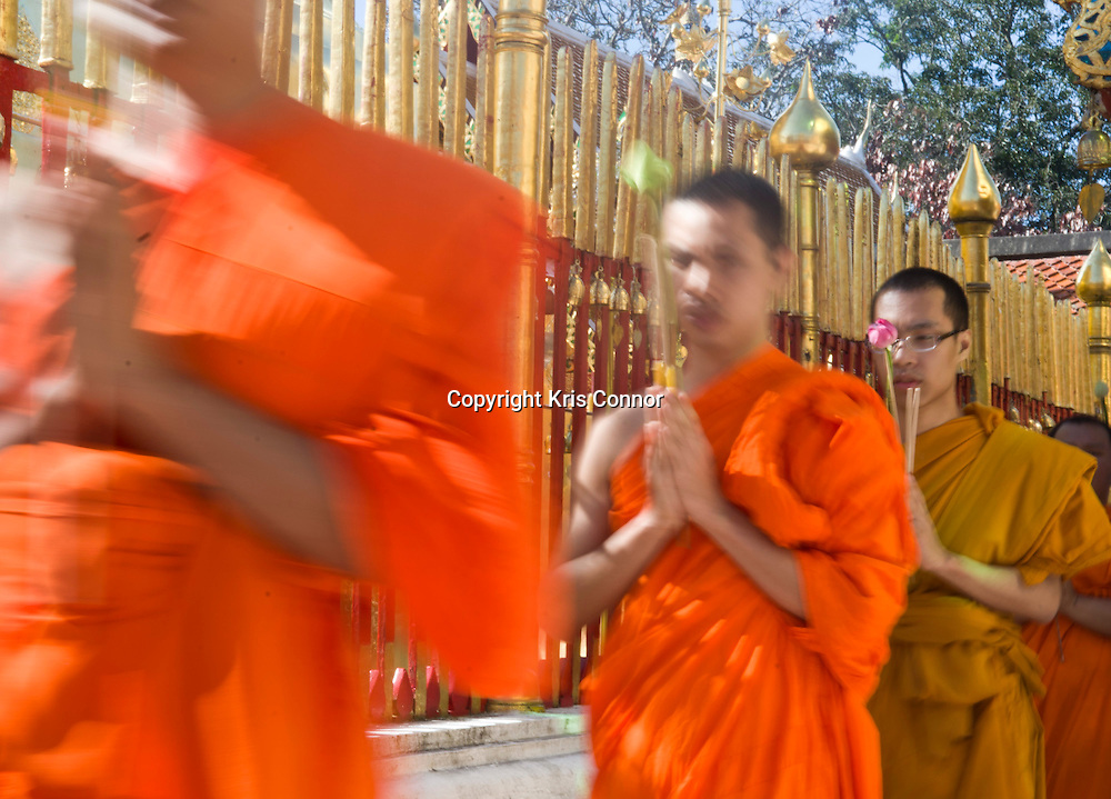 Wat Phrathat Doi Suthep temple near Chiang Mai, Thailand. Photo by Kris Connor