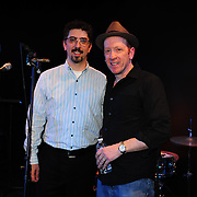 Live at The Loft host Bob Lord (L) with Buffalo Tom's Bill Janovitz after the show