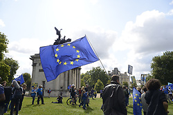 September 9, 2017 - London, United Kingdom - Anti-Brexit demonstrators take part to the march for Europe on September 9, 2017 in London, United Kingdom. The British people voted to leave the European Union in a referendum in 2016. (Credit Image: © Alberto Pezzali/NurPhoto via ZUMA Press)